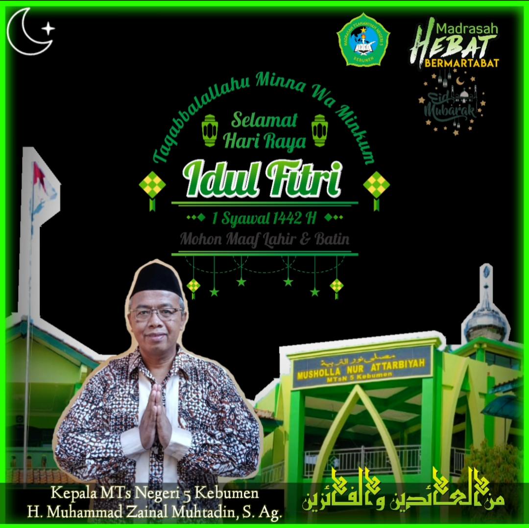 Kata Sambutan Kepala Madrasah dalam Perayaan Hari Raya Idul Fitri 1442 H
